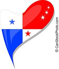 καρδιά , κουμπί , αναπτύσσομαι. , σημαία , μικροβιοφορέας , παναμάς