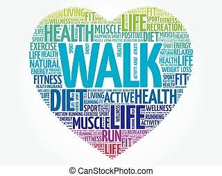 καρδιά , λέξη , σύνεφο , βόλτα