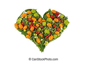 καρδιά , λαχανικά , γινώμενος