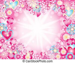 καρδιά , λουλούδια , γινώμενος , αστέρας του κινηματογράφου , ακτίνα