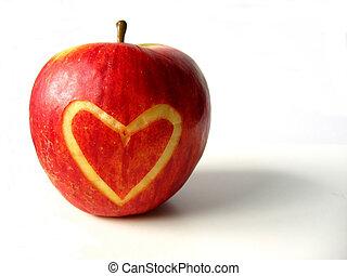 καρδιά , μήλο