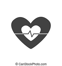 καρδιά , μικροβιοφορέας , εικόνα , αυξομειώνομαι σε ένταση