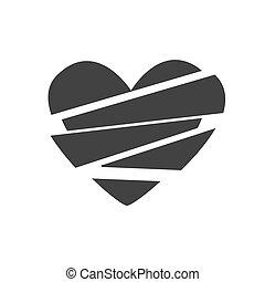 καρδιά , μικροβιοφορέας , εικόνα , σπασμένος