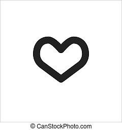 καρδιά , μικροβιοφορέας , μαύρο , γραμμικός , εικόνα