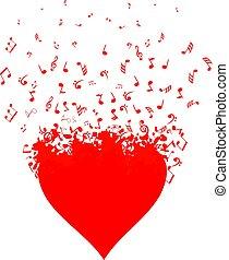 καρδιά , μουσική