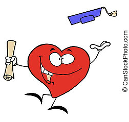 καρδιά , πτυχίο , κόκκινο