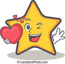καρδιά , ρυθμός , αστέρι , γελοιογραφία , χαρακτήρας