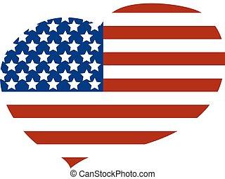 καρδιά , σημαία , αμερικανός