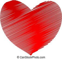 καρδιά , σύμβολο , εικόνα , μικροβιοφορέας , επώαση , εικόνα , κόκκινο , στοκ