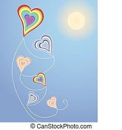 καρδιά , χαρταετόs , σχηματισμένος