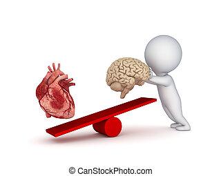 καρδιά , brain., ανθρώπινος