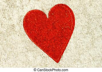 καρδιά , card., macro , πάνω , κρασί , κλείνω , παίξιμο