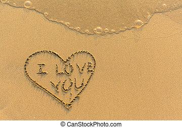 καρδιά , hand-drawn, - , αγάπη , εσείs