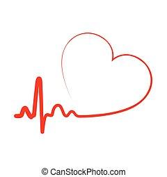 καρδιά , icon., μικροβιοφορέας , illustration.