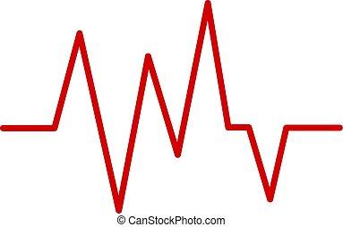 καρδιοχτύπι , κόκκινο , εικόνα