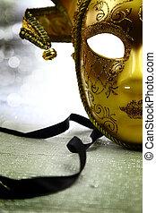 καρναβάλι , κρασί , μάσκα , βενετός , φόντο , ακτινοβολώ