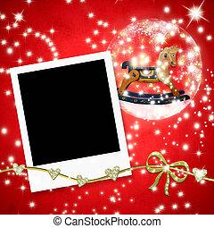 καρτέλλες , αποτελώ το πλαίσιο , φωτογραφία , xριστούγεννα , άλογο , κούνημα