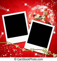 καρτέλλες , αποτελώ το πλαίσιο , φωτογραφία , xριστούγεννα , δυο
