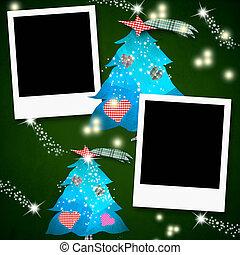 καρτέλλες , κενό , αποτελώ το πλαίσιο , φωτογραφία , xριστούγεννα