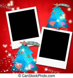καρτέλλες , φωτογραφία , xριστούγεννα , αποτελώ το πλαίσιο , δυο