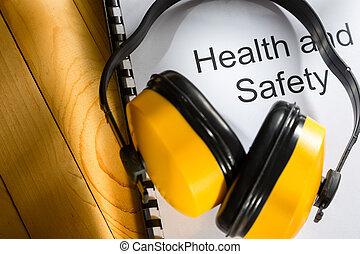 κατάσταση υγείας και ασφάλεια , καταγραφή , με , ακουστικά