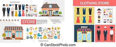 κατάστημα , διαμέρισμα , ρουχισμόs , γενική ιδέα , τετράγωνο