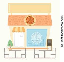κατάστημα , πίτα με τομάτες και τυρί , εικόνα