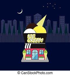 κατάστημα , παγωτό