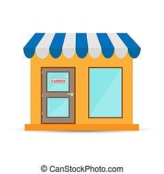 κατάστημα , πόρτα , e-commerce , αδιαπέραστος αναχωρώ