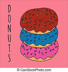 κατάστημα , flavors , διαφορετικός , κατάστημα , εστιατόριο , donuts , κότσος , γλύκα , μπογιά , ζυμαρικά , φόντο , διευκρίνιση , ή