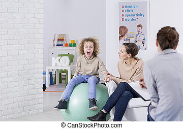 κατά την διάρκεια , παιδί , θεραπεία , adhd