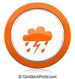καταιγίδα , πορτοκάλι , εικόνα , waether, προβλέπω , σήμα
