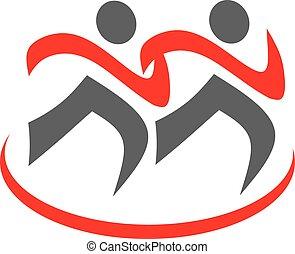 καταλληλότητα , τρέξιμο , αγώνισμα , icon., σήμα