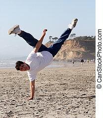 καταπληκτικός , handstand