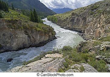 καταρράκτης , επάνω , βουνό , ποτάμι