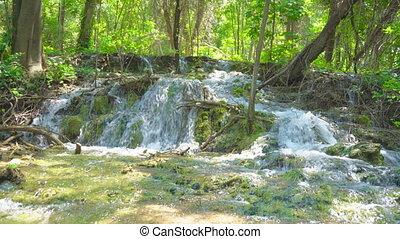 καταρράκτης , επάνω , ο , ποτάμι , krka, μέσα , εθνικό πάρκο...