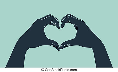 κατασκευή , χέρι , αγάπη , σήμα