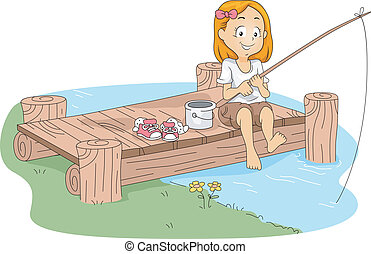 κατασκηνώνω , ψάρεμα