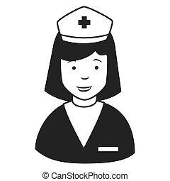 κατατομή , νοσοκόμα , σκούφοs , εικόνα