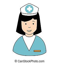 κατατομή , σκούφοs , εικόνα , μικροβιοφορέας , εικόνα , νοσοκόμα