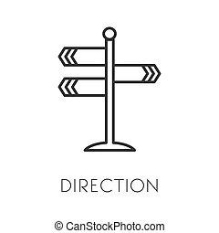 κατεύθυνση , διατομή , περίγραμμα , απομονωμένος , πάροδος ,...