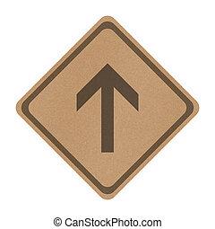 κατεύθυνση , ευθεία , απομονωμένος , σήμα , ανακυκλώνω , χαρτί , κυκλοφορία , φόντο , πηγαίνω , άσπρο