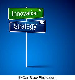 κατεύθυνση , καινοτομία , αναχωρώ. , δρόμοs , στρατηγική