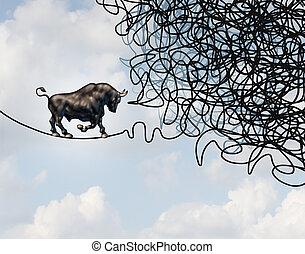 κατεύθυνση , ταύρος , σύγχυσα , αγορά , στοκ