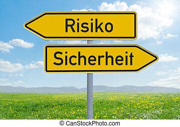 κατεύθυνση , (german), ριψοκινδυνεύω , oder, - , δυο , ...