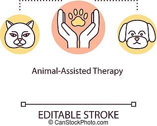 κατοικίδιο ζώο , animal-assisted, icon., medicine., rgb, θεραπεία , μικροβιοφορέας , γραμμή , editable, απομονωμένος , illustration., περίγραμμα , συμπληρωματικός , drawing., therapy., ιδέα , ευσυγκίνητος , χρώμα , χτύπημα , γενική ιδέα , λεπτός , υποστηρίζω