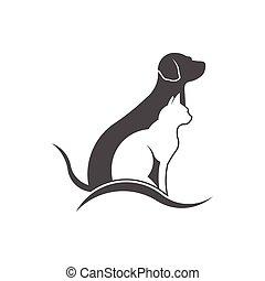 κατοικίδιο ζώο , logo., προσοχή , μικροβιοφορέας , σχεδιάζω
