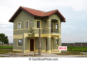 κατοικητικός , σπίτι , αόρ. του sell