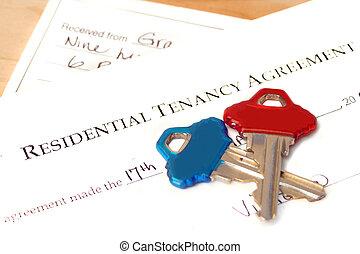 κατοικητικός , tenancy, συμφωνία