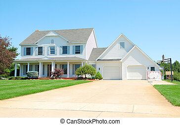 κατοικητικός , upscale , αμερικανός , σπίτι